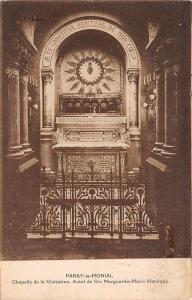 BF4913 chapelle de la visitation autel paray le monial france