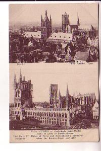 Churches, St Martin Before and After Bombardment, War Ruins, Ypres Belgium