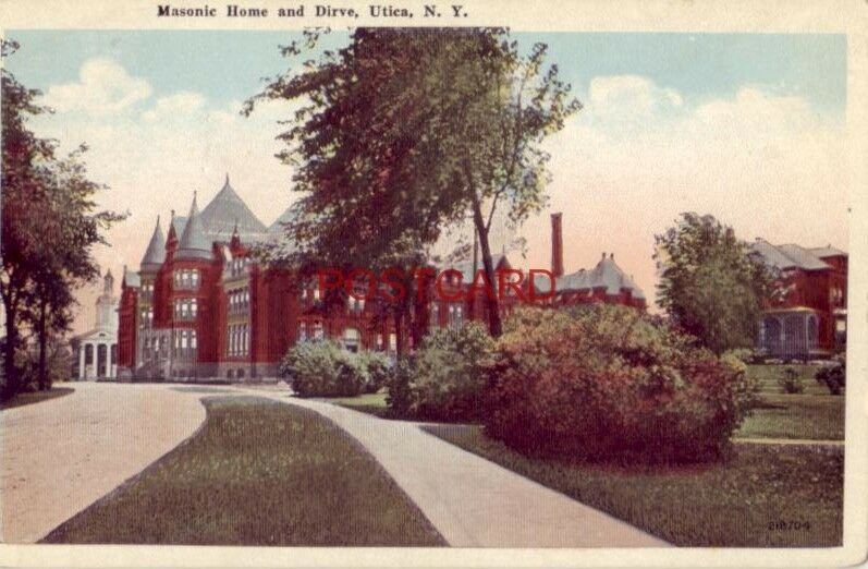 MASONIC HOME AND DRIVE, UTICA, N. Y.