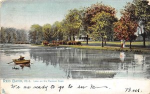 Lake on the Rumson Road Red Bank, New Jersey Postcard