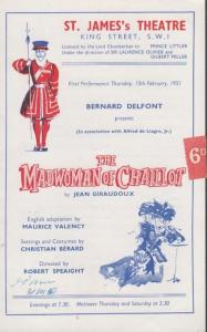The Madwoman Of Chaillot St James Comedy London Theatre Programme
