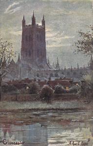 GLOUCESTER Cathedral, England , 1900-10s; TUCK 6433, Artist Arthur C. Payne