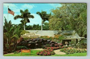 Sarasota FL- Florida, Jungle Garden, Lush Tropical Atmosphere, Chrome Postcard