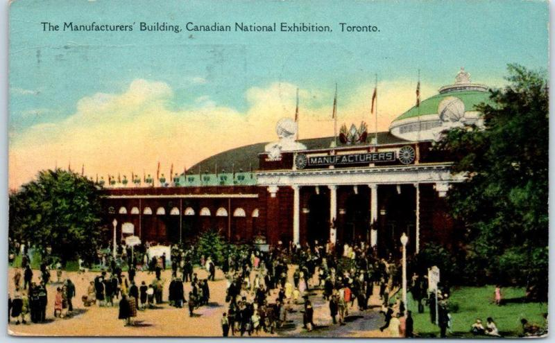Toronto Canada Postcard Manufacturers Building, Canadian National Exhibition