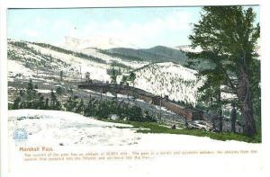 Marshall Pass  CO The Summit of The Pass Railroad Postcard