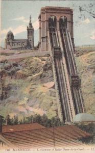 France Marseille L'Ascenseur et Notre-Dame-de-la-Garde 1908