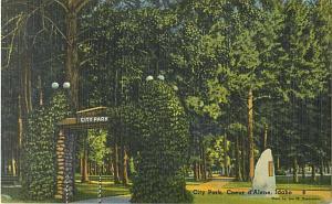 City Park in Coeur d'Alene ID Idaho Linen