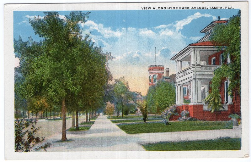 Tampa, Fla, View Along Hyde Park Avenue