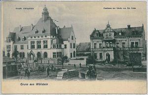 Ansichtskarte  VINTAGE POSTCARD: GERMANY -   GRUSS AUS Wöllstein Wollstein 1910