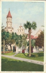 USA Cathedral from Plaza St. Augustine Florida 03.04