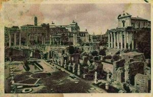 Italy Roma Roman Forum House of the Vestal Ruins Postcard