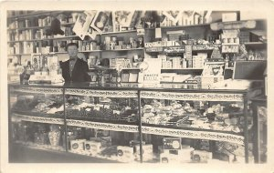 G11/ Interesting Postcard c1910 Candy Store Perfumes Nuts Interior Cashier 6