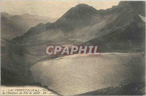 Old Postcard Lac D'Oncet (2238 m) View Taking the Hotellerie du Midi PIC