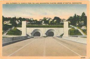 Linen of Entrance Tunnels from Lake Washington Seattle WA