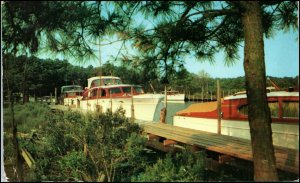 Henlopen Yacht Basin, Rehoboth Beach, DE - Wooden Yachts c.1953