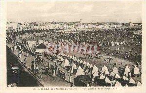 Old Postcard Les Sables d'Olonne (Vendee) Vue Generale de la Plage