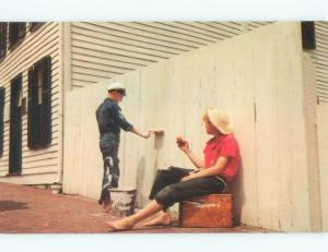 Pre-1980 MARK TWAIN SCENE - TOM SAWYER WATCHING JOE HARPER Hannibal MO E6514