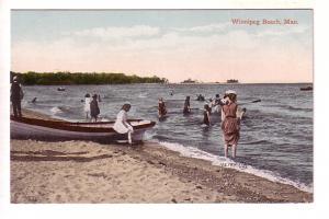 People Swimming, Winnipeg Beach, Manitoba