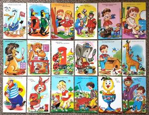 Postcards Lot of 18 for Children Kids Artist TROW by Harvey Barton of Bristol