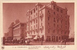 Morocco Casablanca La rue de Marseille