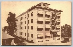 Long Beach California~Alberta Apartments~Fire Escape Balcony~1914 Postcard