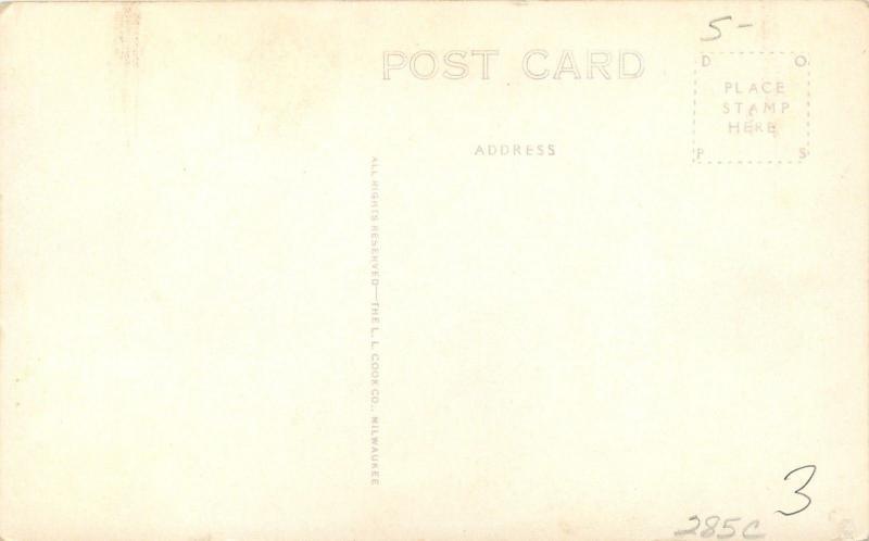 Crete Nebraska~Doane College~Frees Hall~1930s Real Photo Postcard~RPPC