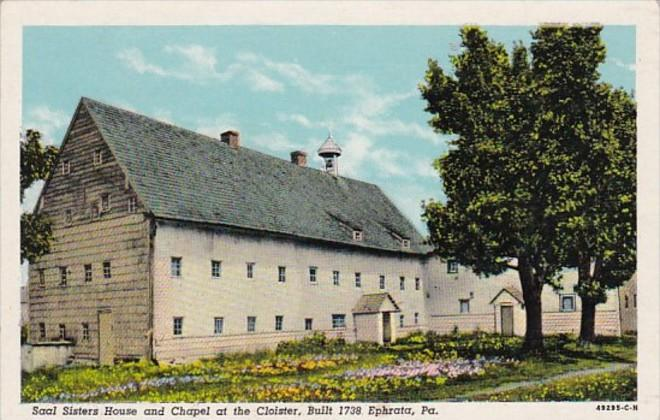 Pennsylvania  Ephrata Saal Sisters House and Chapel At The Cloisters Built 17...