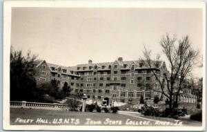 Iowa State University RPPC Real Photo Postcard FRILEY HALL Ames 1944 Cancel WWII