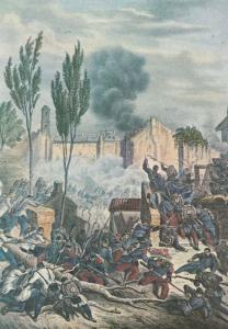 Battle Of Magenta Painting 1859 Italian War Of Independence Postcard