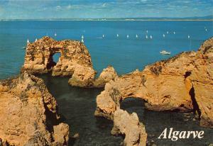 Portugal Algarve Ponta da Piedade Lagos Panorama Postcard