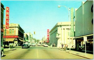 DOTHAN Alabama Postcard North Foster Street Downtown Scene 1950s Chrome Unused