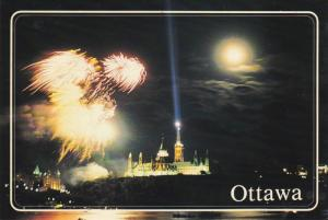Traditional Fireworks Display on Anniversary of Condfederation, Ottawa, Ontar...