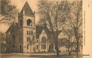 1909 Lawrence Kansas 1st Methodist Church PCK Series #7832 postcard 12678