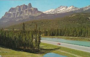 Canada Mount Eisenhower and Bow River Jasper National Park Alberta