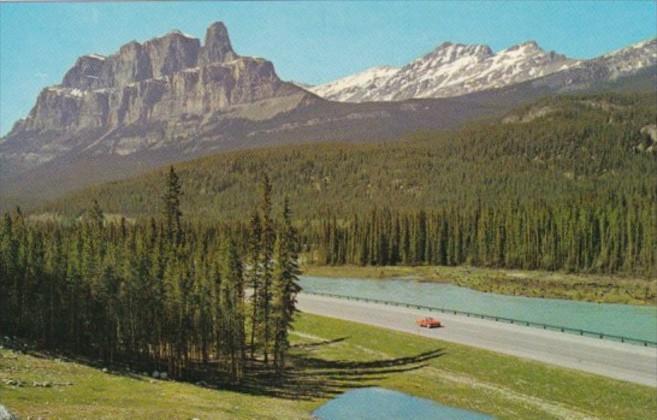 Canada Mount Eisenhower and Bow River Jasper National Park Alberta
