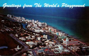 Florida Miami Beach Aerial View Looking North