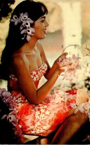 Hawaii Poster Girl Beautiful Rose Marie Alvaro 1965