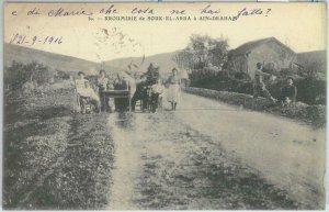 80341  -  TUNISIA  - VINTAGE POSTCARD   -   SOUK EL ARBA  1916