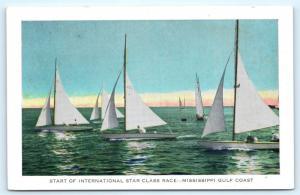 Postcard MS Start International Star Class Yacht Race Mississippi Gulf L13