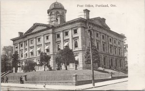 Portland OR Post Office c1908 Woodward Clarke Postcard G75