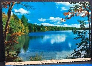 Oscoda Lake 1971 Michigan Vintage Postcard
