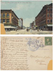 Sioux City, Iowa - Pierce Street looking North - 1910