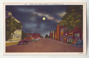 P746 old cars street scene full moon broad st. statesville n.c.