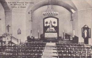 New York Mount Mcgregor New York State Veterans Rest Camp Interior Of Chapel ...