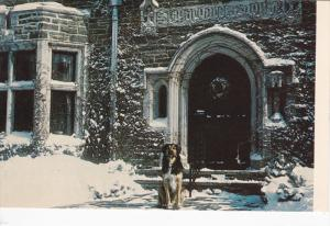 Front door in snow , ST. MARGARET'S House , New Hartford , New York , 50-60s
