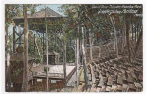 Outdoor Theater Riverton Park Portland ME 1905 postcard