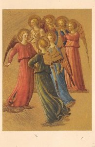 Religious Postcard Angel Musicians Unused