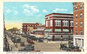 Eldorado Kansas Main Street Scene Historic Bldgs Antique Postcard K47039