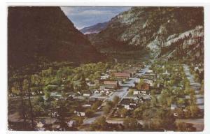 Panorama Ouray Colorado 1955 postcard