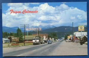 Frisco Colorado co Texaco Pepsi signs Holiday House Motel street postcard